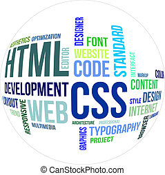 word cloud - html and css - A word cloud of html and css...