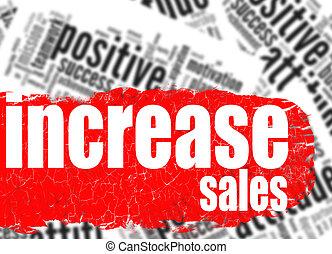 Word cloud increase sales