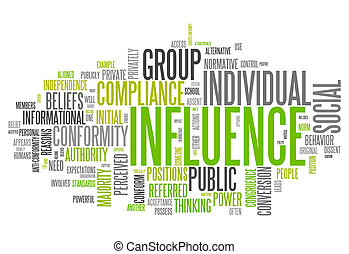 Word Cloud with Influence related tags