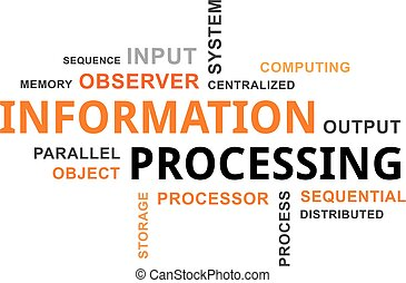 word cloud - information processing