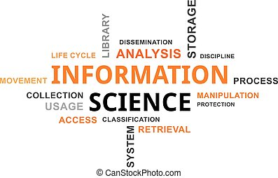 word cloud - information science