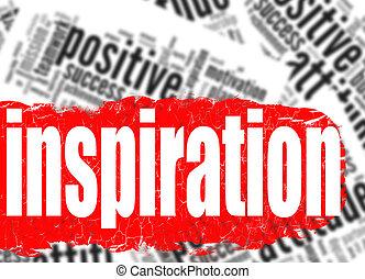 Word cloud inspiration business sucess concept