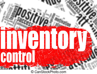 Word cloud inventory control image with hi-res rendered...