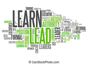 Word Cloud Learn and Lead