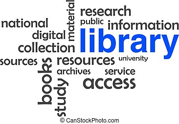 word cloud - library