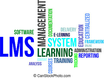 word cloud - lms - A word cloud of learning management...