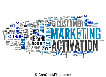 Word Cloud with Marketing Activation related tags