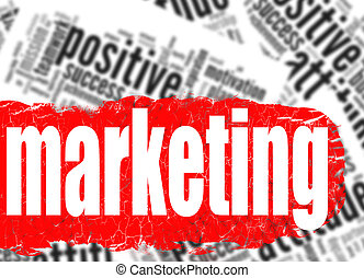 Word cloud marketing business sucess concept
