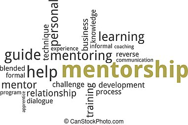 word cloud - mentorship - A word cloud of mentorship related...