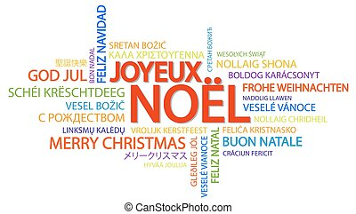 Word cloud Merry Christmas (in French)