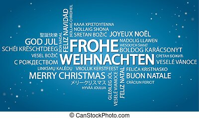 Word cloud Merry Christmas (in German)