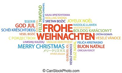 word cloud merry christmas in german - Merry Christmas In Different Languages List