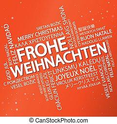 Word cloud Merry Christmas (in German)