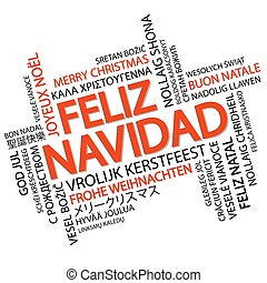 Word cloud Merry Christmas (in Spanish)