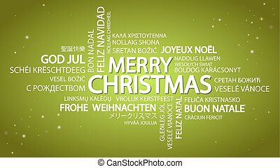 Word cloud Merry Christmas