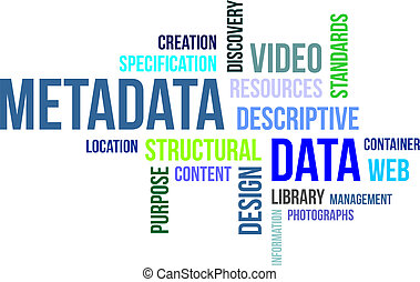 word cloud - metadata - A word cloud of metadata related...