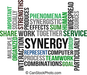Word cloud of Synergy related items