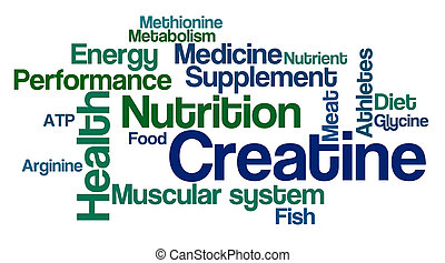 Word Cloud on a white background - Creatine