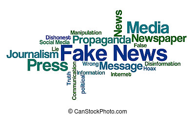 Word Cloud on a white background - Fake News