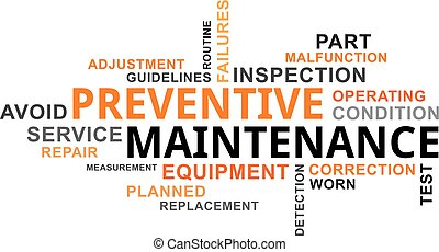 word cloud - preventive maintenance - A word cloud of...