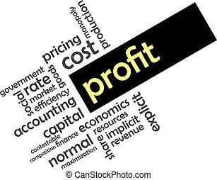 word cloud - profit