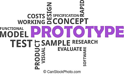 word cloud - prototype - A word cloud of prototype related...