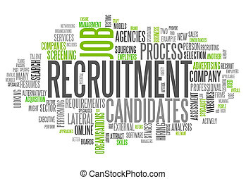 Word Cloud Recruitment - Word Cloud with Recruitment related...
