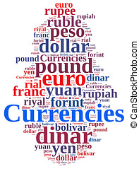 Word cloud related currencies. - Illustration with word ...