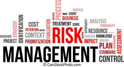 word cloud - risk management - A word cloud of risk...