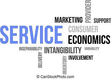word cloud - service