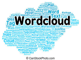 Word cloud shape