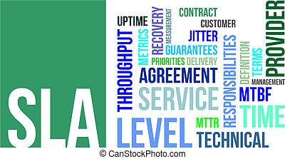 word cloud - sla - A word cloud of service level agreement ...