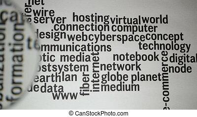 Word Cloud Social Network / Interne