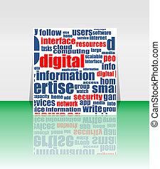 Word Cloud Social Network / Internet / Community