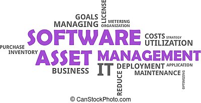 word cloud - software asset management