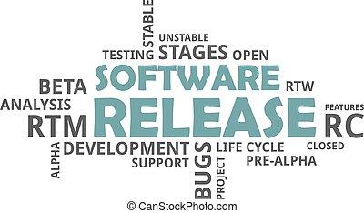 word cloud - software release