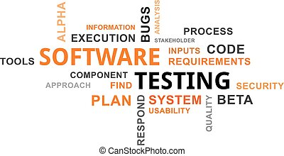 word cloud - software testing - A word cloud of software...