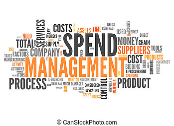 Word Cloud Spend Management - Word Cloud with Spend...