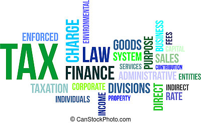 word cloud - tax - A word cloud of tax related items