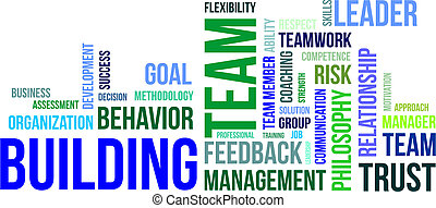 word cloud - team building - A word cloud of team building...