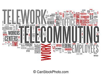 Word Cloud Telecommuting - Word Cloud with Telecommuting...