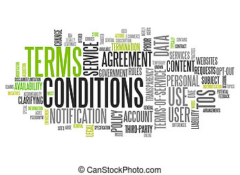 Word Cloud Terms and Conditions - Word Cloud with Terms and ...