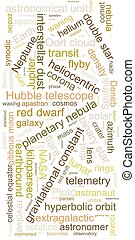 Word cloud typography concept, consisting of important words...