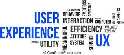 word cloud - user experience