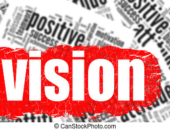Word cloud vision business sucess concept
