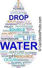 word cloud - water drop - A word cloud of water related...