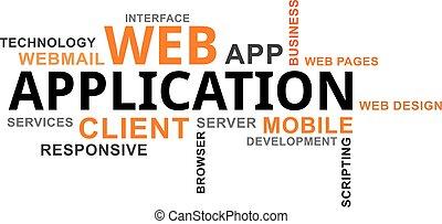 word cloud - web application