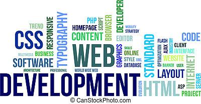 word cloud - web development - A word cloud of web...