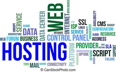 word cloud - web hosting - A word cloud of web hosting...