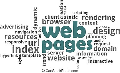 word cloud - web pages